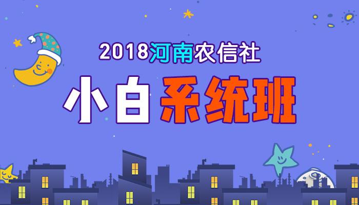 2018河南农信社小白系统班