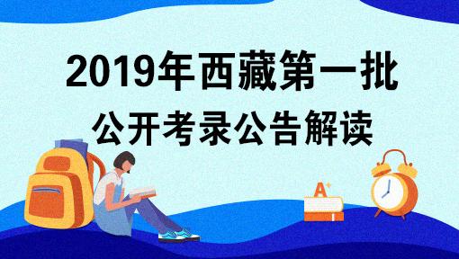 2019年西藏第一批公开考录公告解读