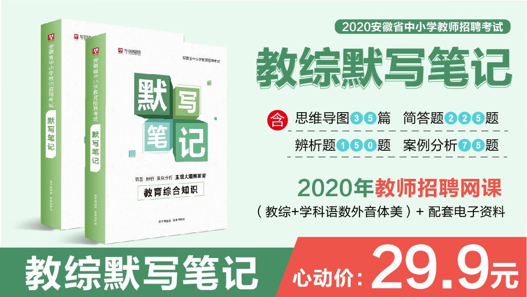 【现货 纸质版包邮】 2020年教师考编 教综默写笔记 含网课 电子资料 C