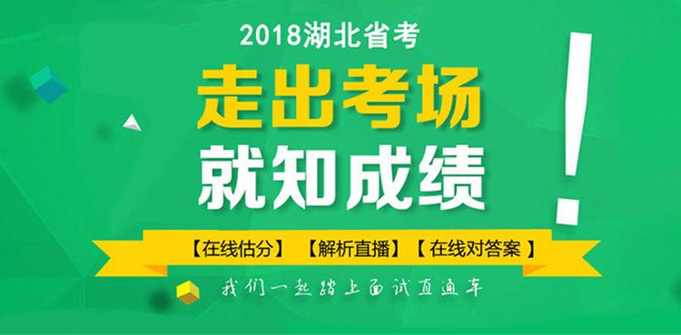 2018湖北省公务员考试在线估分