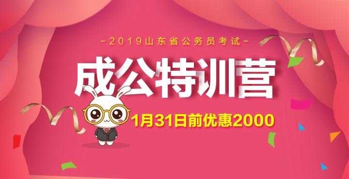 2019山东省考笔试课程-成公特训营