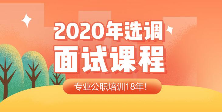 2020年山东选调面试课程