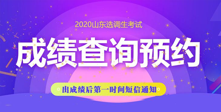2020山东选调生考试笔试成绩查询预约