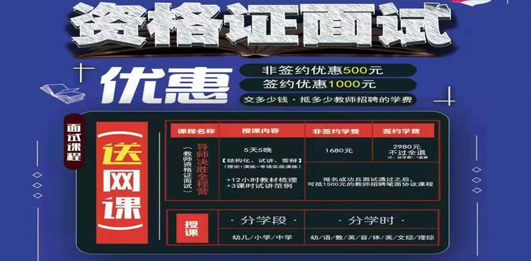 2019青海下半年教師(shi)資格證(zheng)面試課程