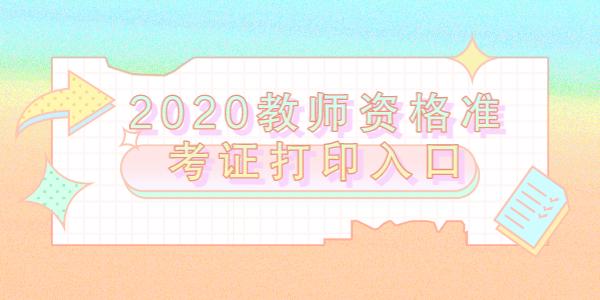 2020年云南教师资格准考证打印口