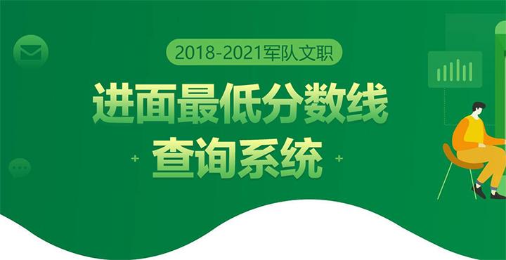 2021广西军队文职历年分数线查询